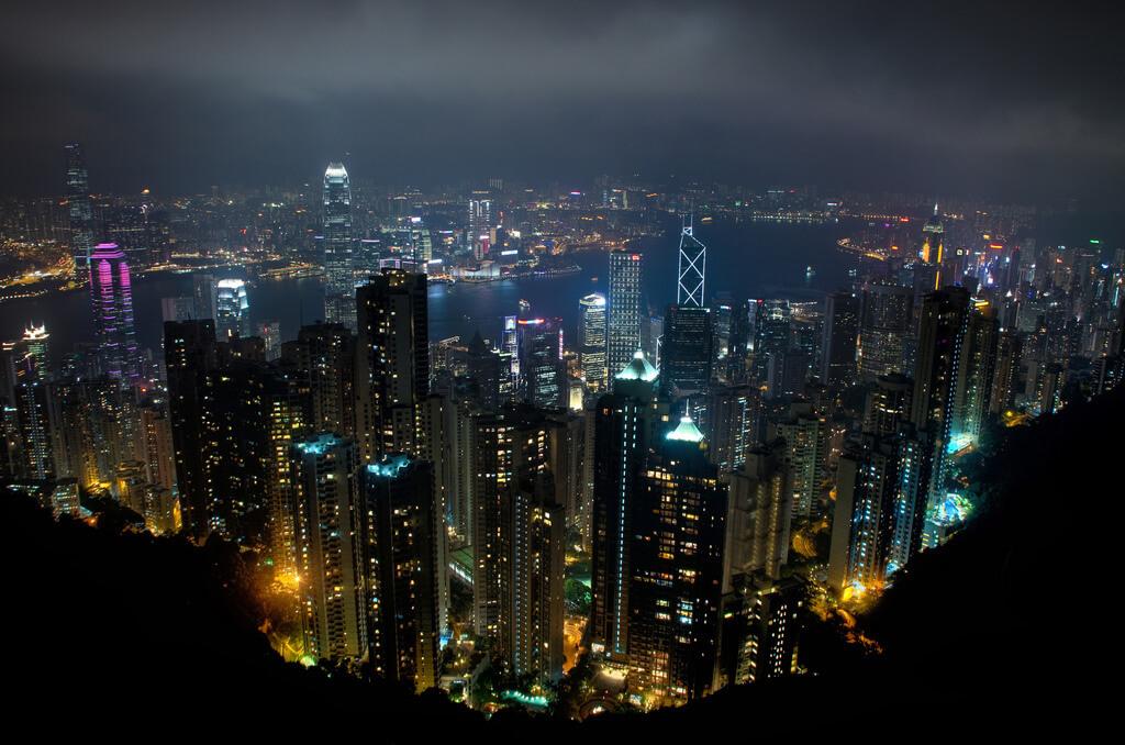 Skyline in Hong Kong. (Foto: Ed Coyle)