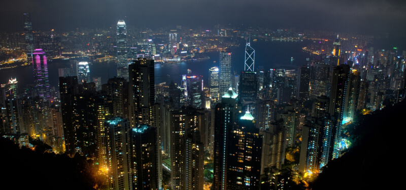 Skyline in Hong Kong. (Foto: Ed Coyle)