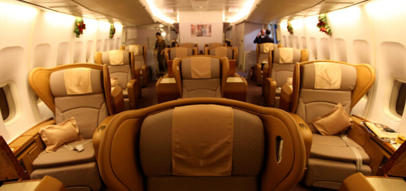 Singapore Airlines hat mit die beste First Class. (Foto: Richard Moross)